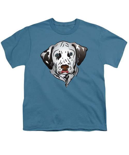 Dalmatian Portrait Youth T-Shirt