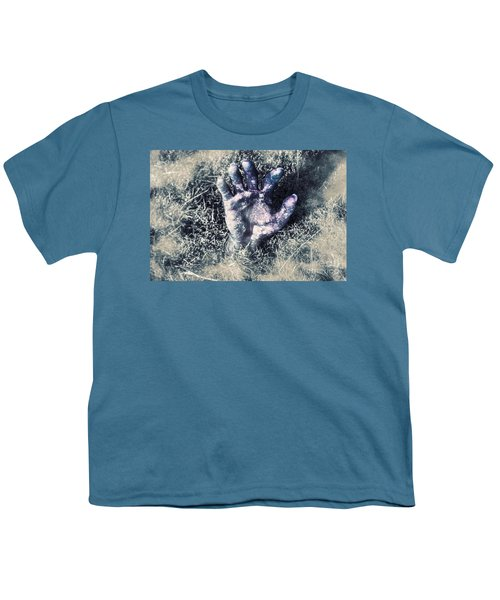 Decaying Zombie Hand Emerging From Ground Youth T-Shirt