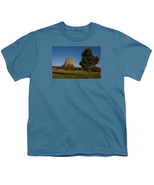 Youth T-Shirt featuring the photograph Devil's Tower by Gary Lengyel