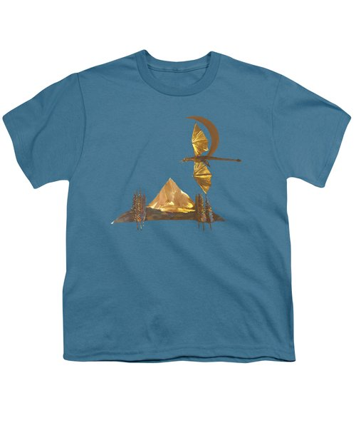 Dragon Of The Hood Youth T-Shirt by Troy Rider