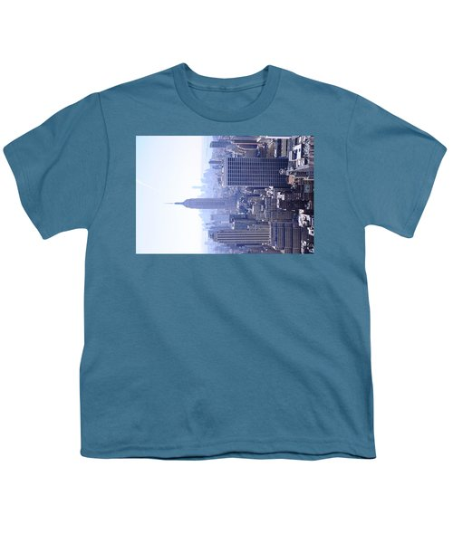 Empire State Building Youth T-Shirt by Jeffson Chan