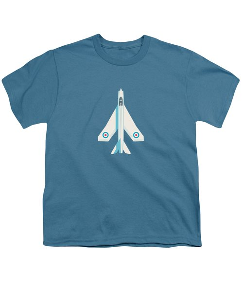 English Electric Lightning Fighter Jet Aircraft - Slate Youth T-Shirt