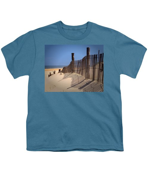 Fenwick Dune Fence And Shadows Youth T-Shirt