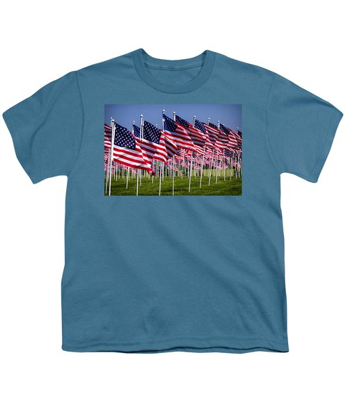 Field Of Flags For Heroes Youth T-Shirt