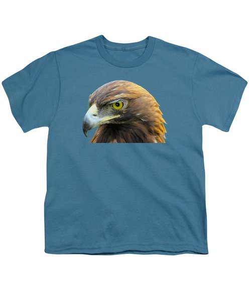 Golden Eagle Youth T-Shirt by Shane Bechler