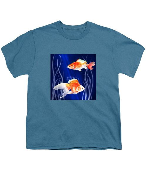Goldfish Aglow Youth T-Shirt by Little Bunny Sunshine
