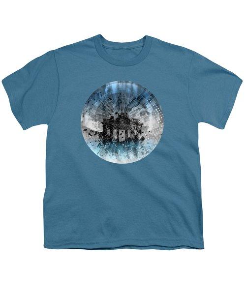 Graphic Art Berlin Brandenburg Gate Youth T-Shirt by Melanie Viola