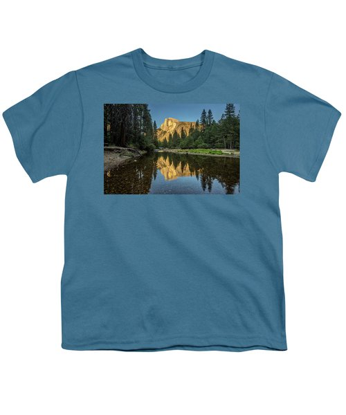 Half Dome From  The Merced Youth T-Shirt by Peter Tellone
