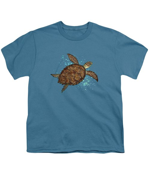 Hawksbill Sea Turtle Youth T-Shirt by Amber Marine