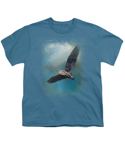Heron In The Midst Youth T-Shirt