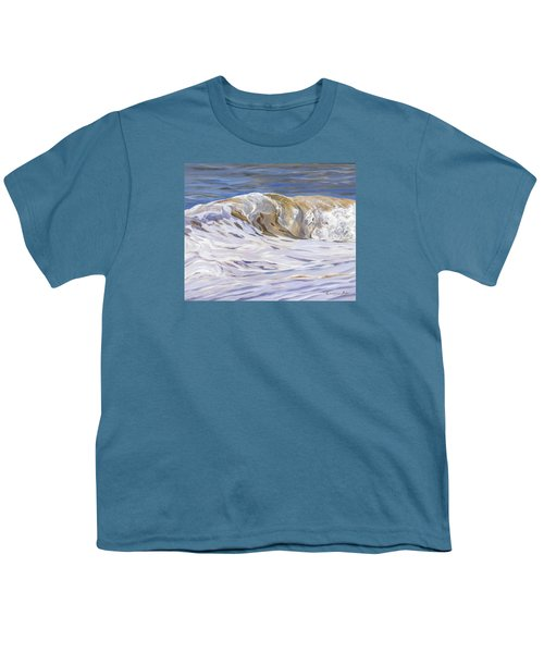Youth T-Shirt featuring the painting Honey Wave by Lawrence Dyer