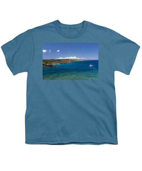 Youth T-Shirt featuring the photograph Honolua Bay by Jim Thompson