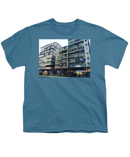 Houses Of Kowloon Youth T-Shirt by Florian Wentsch