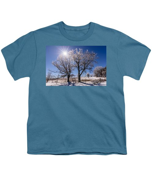 Ice Coated Trees Youth T-Shirt by Randy Scherkenbach