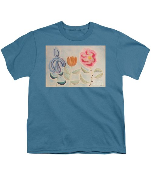 Imagined Flowers Two Youth T-Shirt by Rod Ismay