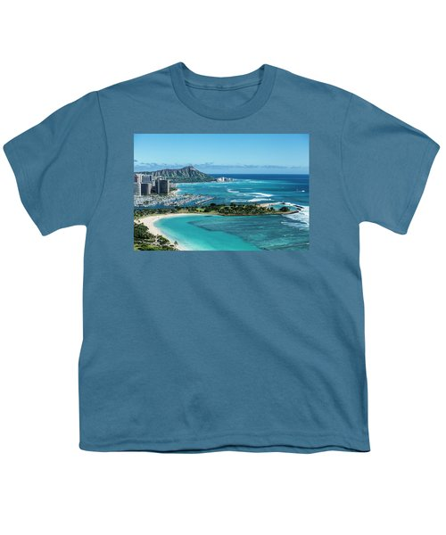 Magic Island To Diamond Head Youth T-Shirt