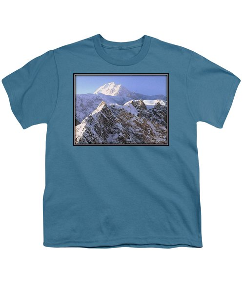 Youth T-Shirt featuring the photograph Mc Kinley Peak by James Lanigan Thompson MFA