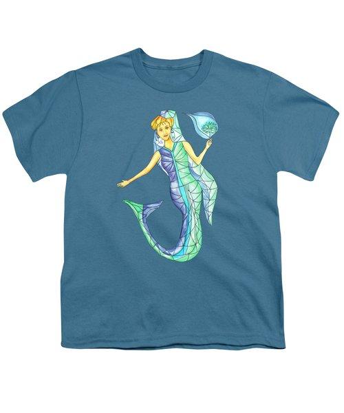 Mermaid Stories B Youth T-Shirt by Thecla Correya