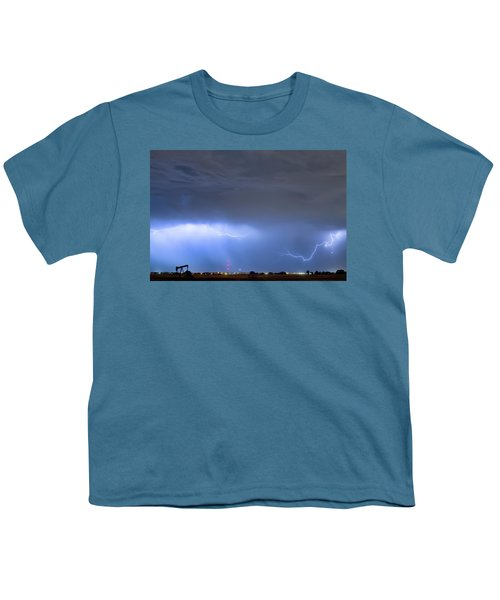 Youth T-Shirt featuring the photograph Michelangelo Lightning Strikes Oil by James BO Insogna
