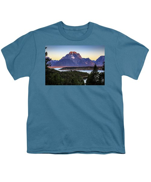 Youth T-Shirt featuring the photograph Morning At Mt. Moran by David Chandler
