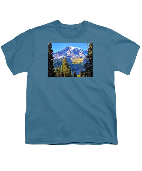 Youth T-Shirt featuring the photograph Mountain Meets Sky by Anthony Baatz