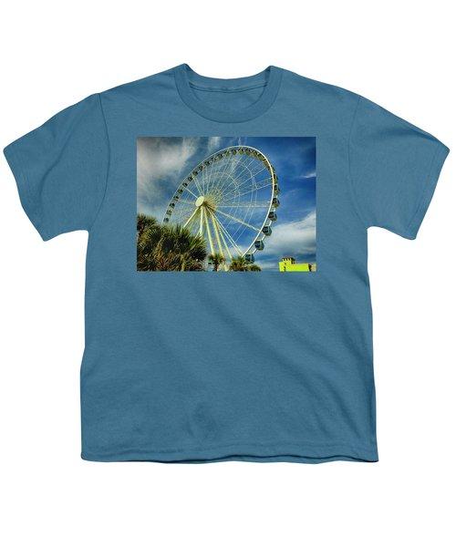 Myrtle Beach Skywheel Youth T-Shirt by Bill Barber
