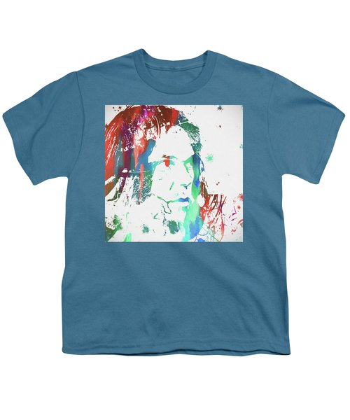 Neil Young Paint Splatter Youth T-Shirt