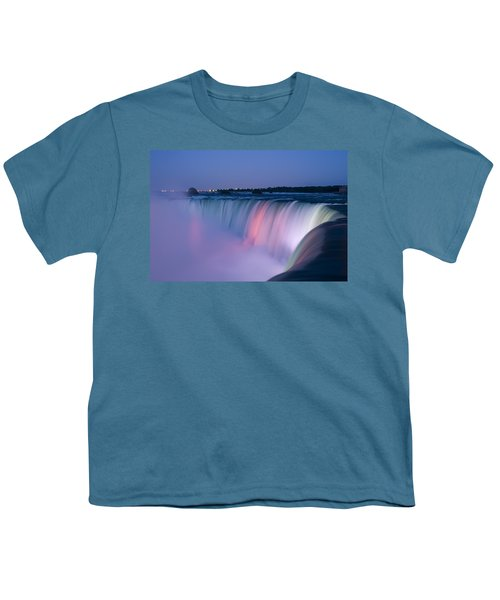 Niagara Falls At Dusk Youth T-Shirt