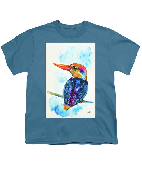 Oriental Dwarf Kingfisher Youth T-Shirt by Zaira Dzhaubaeva