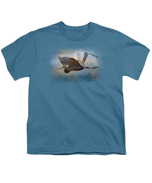 Over Ocean Skies Youth T-Shirt by Jai Johnson