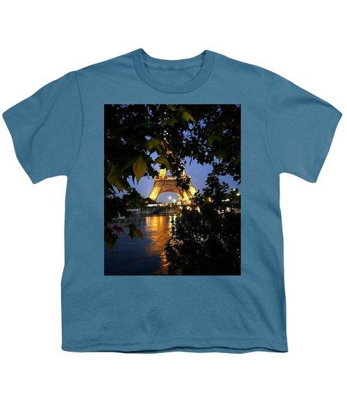 Paris By Night Youth T-Shirt by Nancy Ann Healy