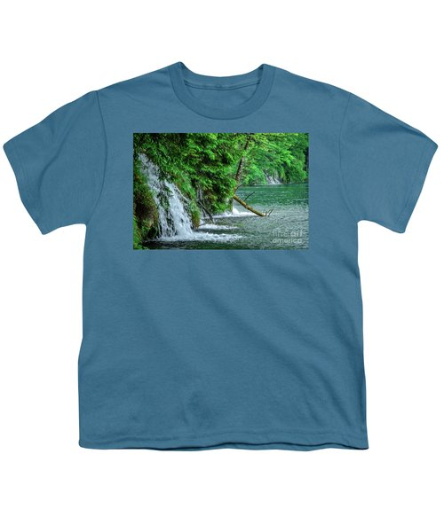 Plitvice Lakes National Park, Croatia - The Intersection Of Upper And Lower Lakes Youth T-Shirt