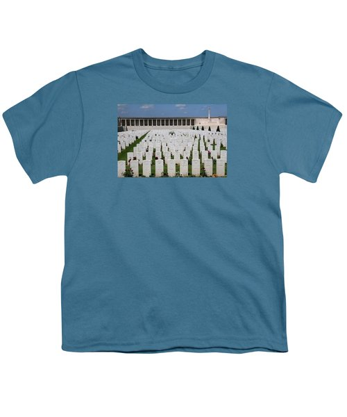 Youth T-Shirt featuring the photograph Pozieres British Cemetery by Travel Pics