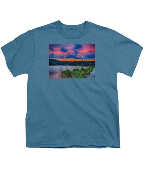 Pre-sunset At Hbsp Youth T-Shirt by Bill Barber