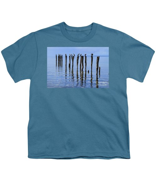 Youth T-Shirt featuring the photograph Quay Rest by Stephen Mitchell