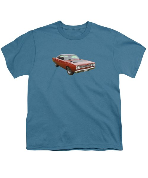 Red 1968 Plymouth Roadrunner Muscle Car Youth T-Shirt