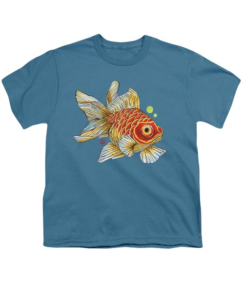 Red Telescope Goldfish Youth T-Shirt by Shih Chang Yang