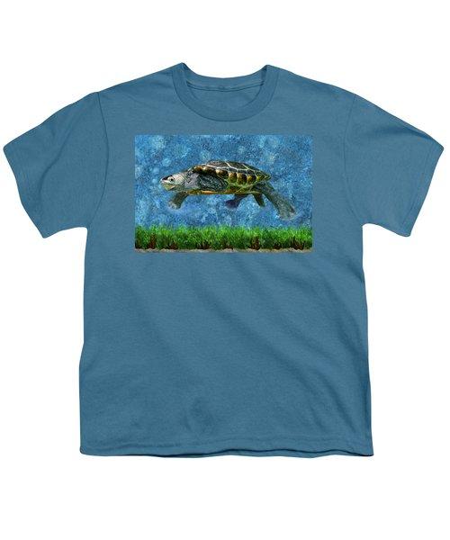 Rodney The Diamondback Terrapin Turtle Youth T-Shirt