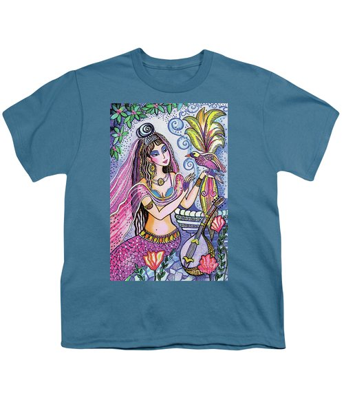 Youth T-Shirt featuring the painting Scheherazade's Bird by Eva Campbell