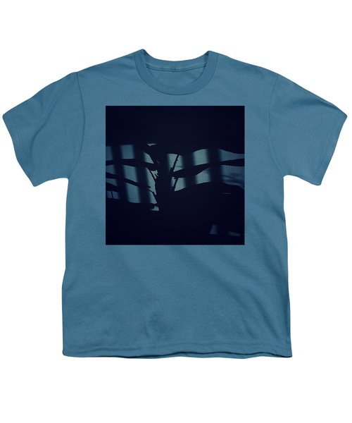 Shadows Abstract - Blue Youth T-Shirt
