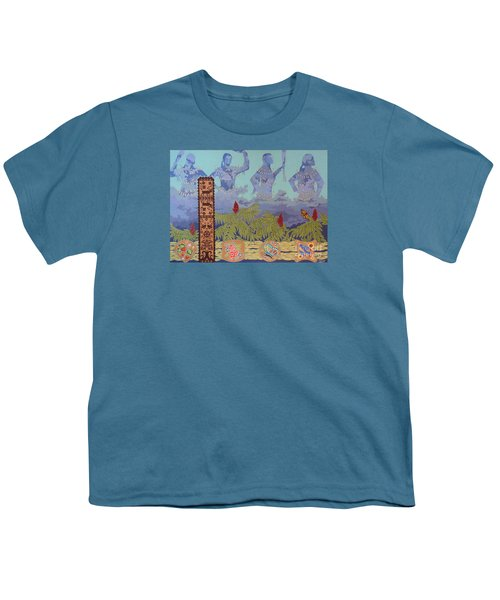 Youth T-Shirt featuring the painting She Makes Rain by Chholing Taha