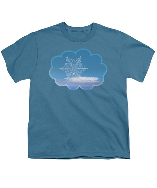 Snowflake Photo - Cloud Number Nine Youth T-Shirt by Alexey Kljatov