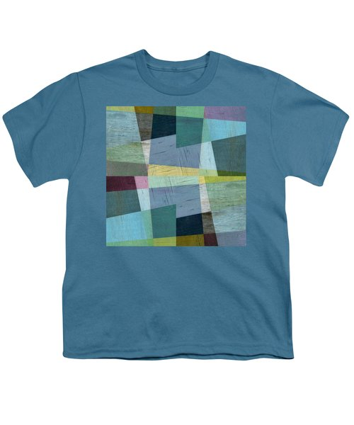 Youth T-Shirt featuring the digital art Squares And Shims by Michelle Calkins