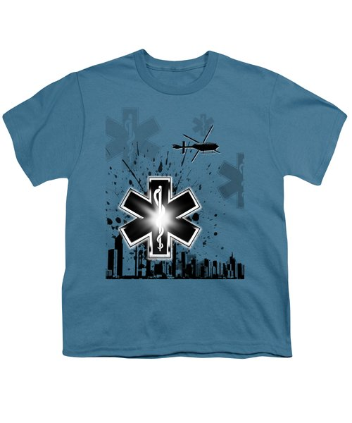 Star Of Life Graphic Youth T-Shirt by Melissa Smith
