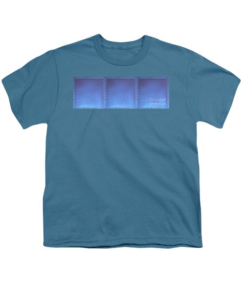 Stiched Leather Look Blue Abstract Wall Decorations By Navinjoshi At Fineartamerica.com Download Jpg Youth T-Shirt