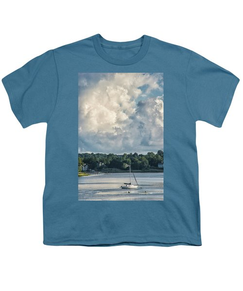 Stormy Sunday Morning On The Navesink River Youth T-Shirt
