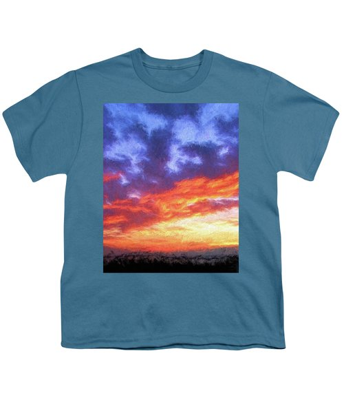 Sunset In Carolina Youth T-Shirt