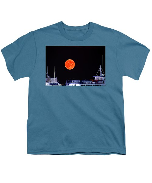 Super Moon Over Crazy Sister Marina Youth T-Shirt by Bill Barber