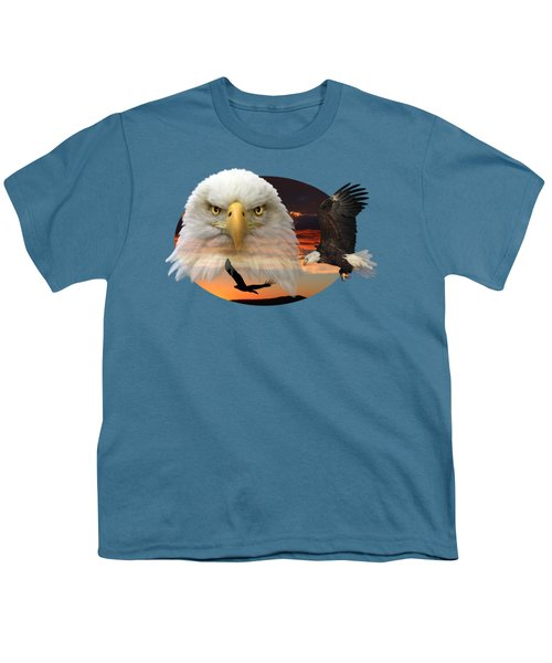 The Bald Eagle 2 Youth T-Shirt by Shane Bechler
