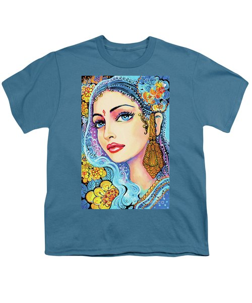 Youth T-Shirt featuring the painting The Veil Of Aish by Eva Campbell